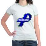 Child Abuse Awareness (2-Sided) Jr. Ringer T-Shirt