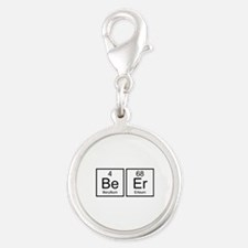 Beer Silver Round Charm