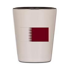 Qatar Flag Shot Glass