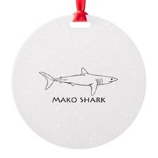 Mako Shark Logo Ornament