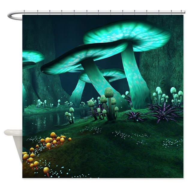 Luminous Mushrooms Shower Curtain By ShowerCurtainShop