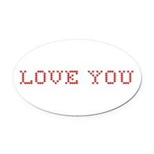 Love You Oval Car Magnet