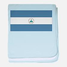 Nicaragua Flag baby blanket