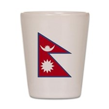 nepal Flag Shot Glass