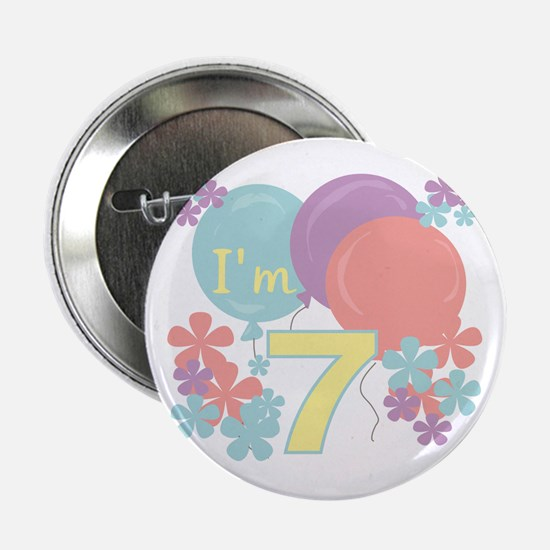 7th Pastel Birthday Button