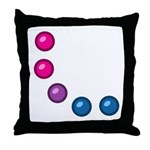 Bi Baubles Throw Pillow