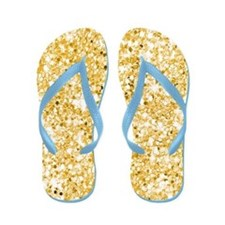 Brides Gold Glitter Sequin Flip Flops