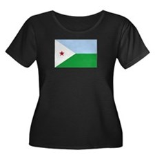 Djibouti Flag Plus Size T-Shirt