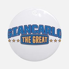 The Great Giancarlo Ornament (Round)