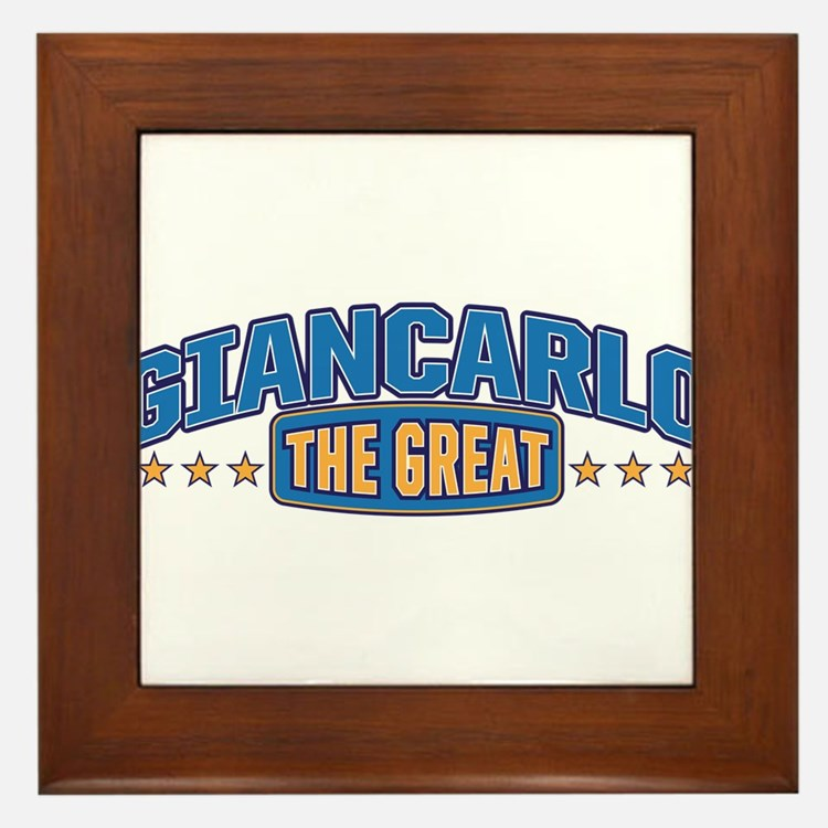 The Great Giancarlo Framed Tile