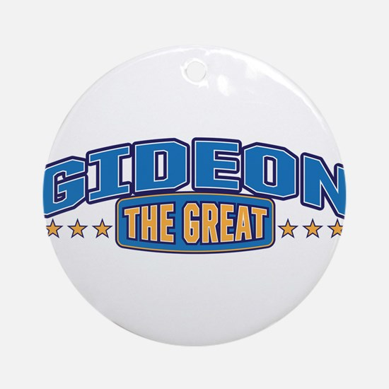 The Great Gideon Ornament (Round)