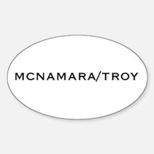 McNamara/Troy Oval Decal