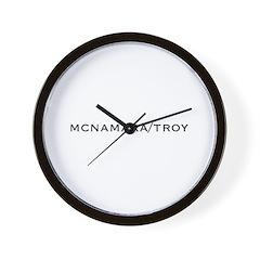 McNamara/Troy Wall Clock