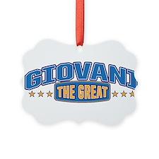The Great Giovani Ornament