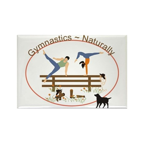Gymnastics Naturally Rectangle Magnet (100 pack)