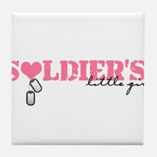 soldiers little girl Tile Coaster