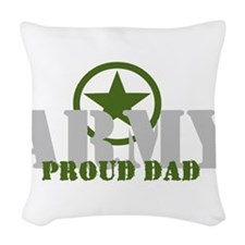 army dad Woven Throw Pillow