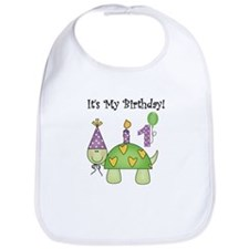 Turtle 1st Birthday Bib