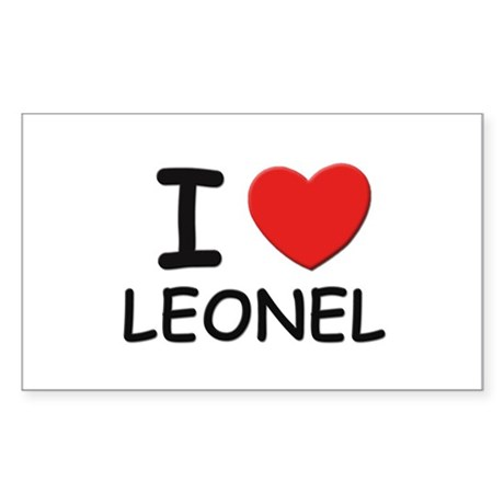 I love Leonel Rectangle Sticker