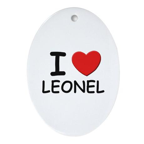 I love Leonel Oval Ornament