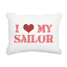 i love my sailor Rectangular Canvas Pillow