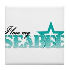 seabee star.png Tile Coaster