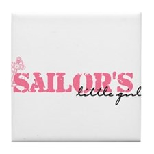 sailors little girl Tile Coaster