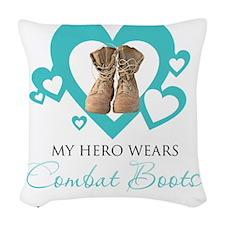 combatbootsguard.png Woven Throw Pillow