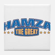 The Great Hamza Tile Coaster