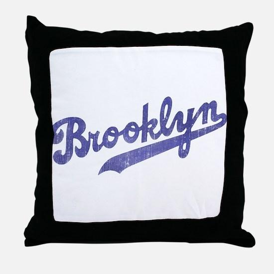 Throwback Brooklyn Throw Pillow