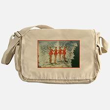 4 waterskiers Messenger Bag