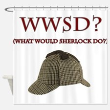 What Would Sherlock Do? Shower Curtain
