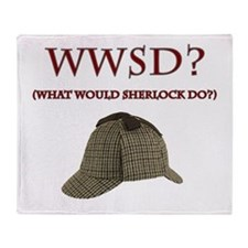 What Would Sherlock Do? Throw Blanket