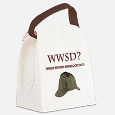 What Would Sherlock Do? Canvas Lunch Bag