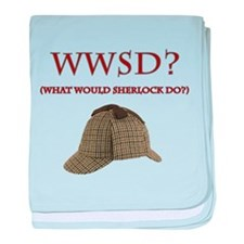 What Would Sherlock Do? baby blanket