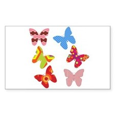 Pretty Colored Butterflies Decal