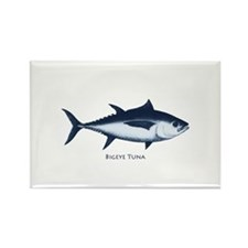 Bigeye Tuna Logo Rectangle Magnet