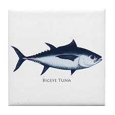 Bigeye Tuna Logo Tile Coaster