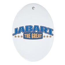 The Great Jabari Ornament (Oval)