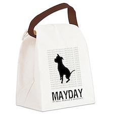 Mayday Black Dog Logo Canvas Lunch Bag