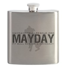 Mayday Dog Logo Flask