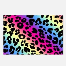 Neon Leopard Print Postcards (Package of 8)