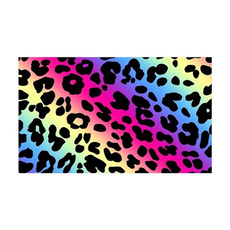 Neon Leopard Print Wall Decal by HomeDecorStore #0: neon leopard print 35x21 wall decal height=460&width=460&qv=90