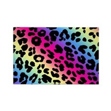 Neon Leopard Print Rectangle Magnet (10 pack)