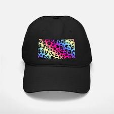 Neon Leopard Print Baseball Hat