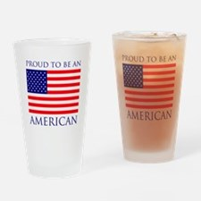 Proud American Drinking Glass