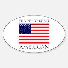 Proud American Sticker (Oval)