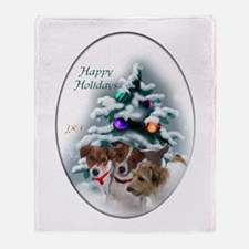 Jack Russell Terrier Christmas Throw Blanket