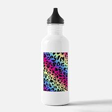 Neon Leopard Print Water Bottle