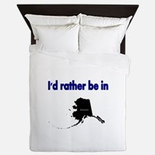 Id rather be in Alaska Queen Duvet